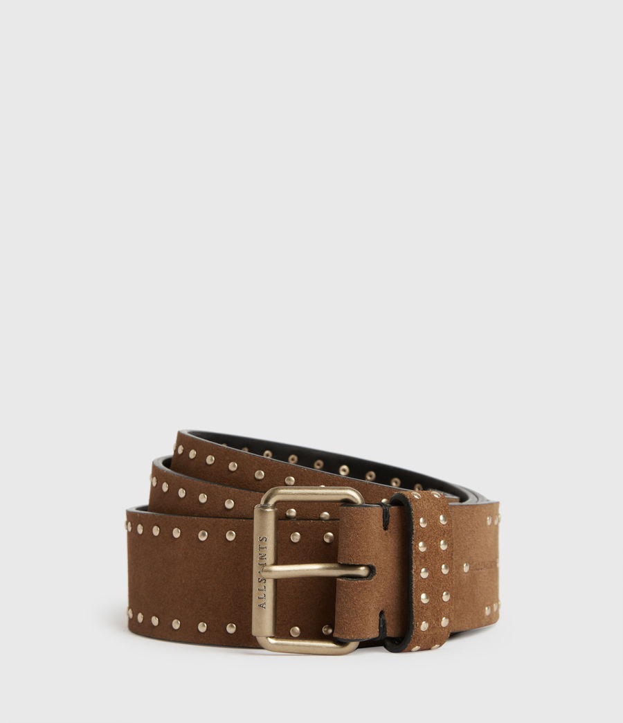 Women's Navagio Suede Belt (tan) - Image 1