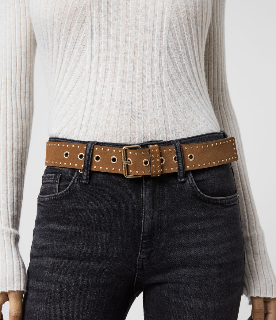 Women's Navagio Suede Belt (tan) - Image 2