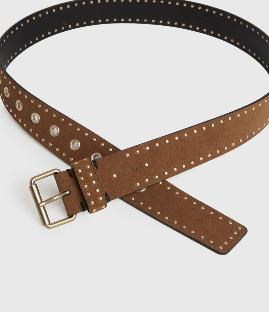 Women's Navagio Suede Belt (tan) - Image 3