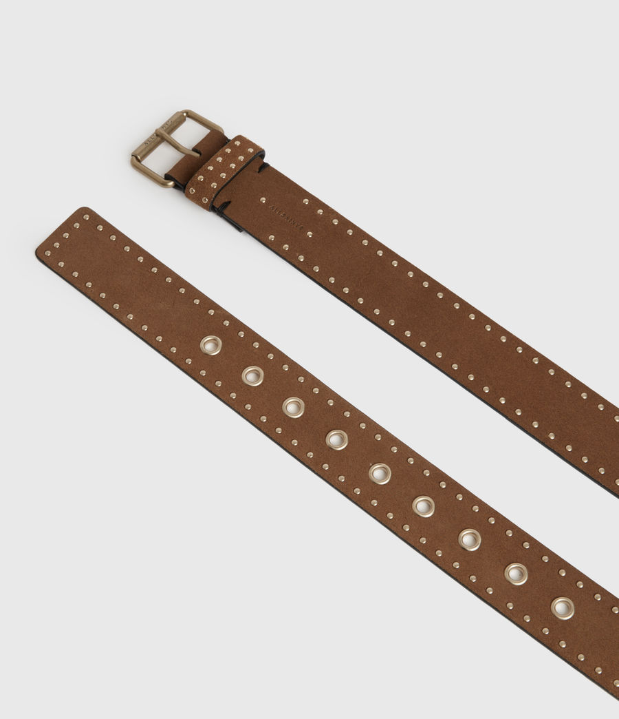Women's Navagio Suede Belt (tan) - Image 4