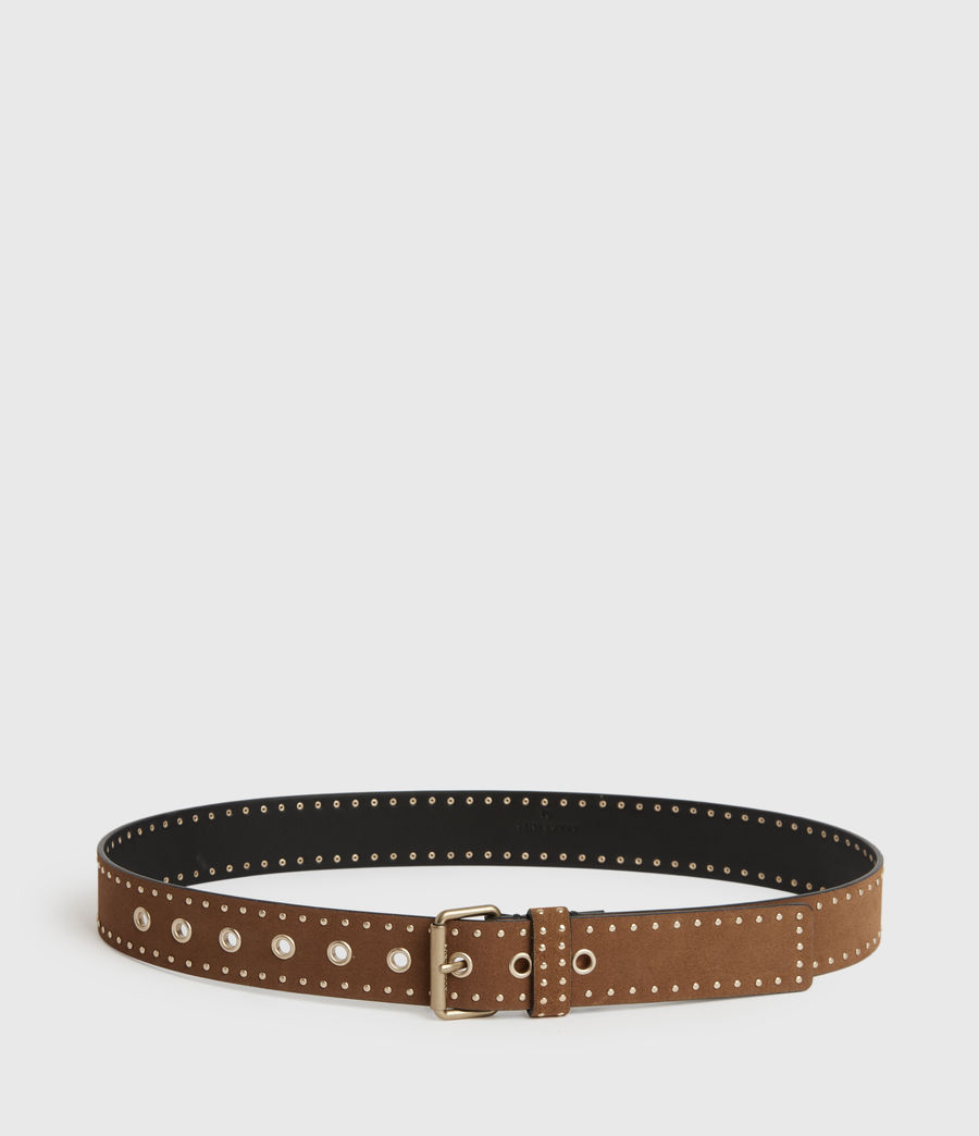 Women's Navagio Suede Belt (tan) - Image 5