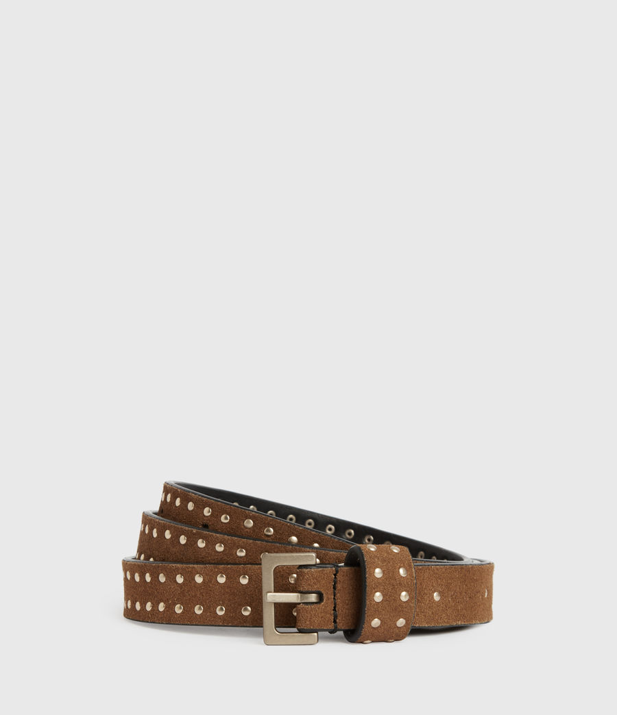 Womens Copa Suede Belt (tan) - Image 2