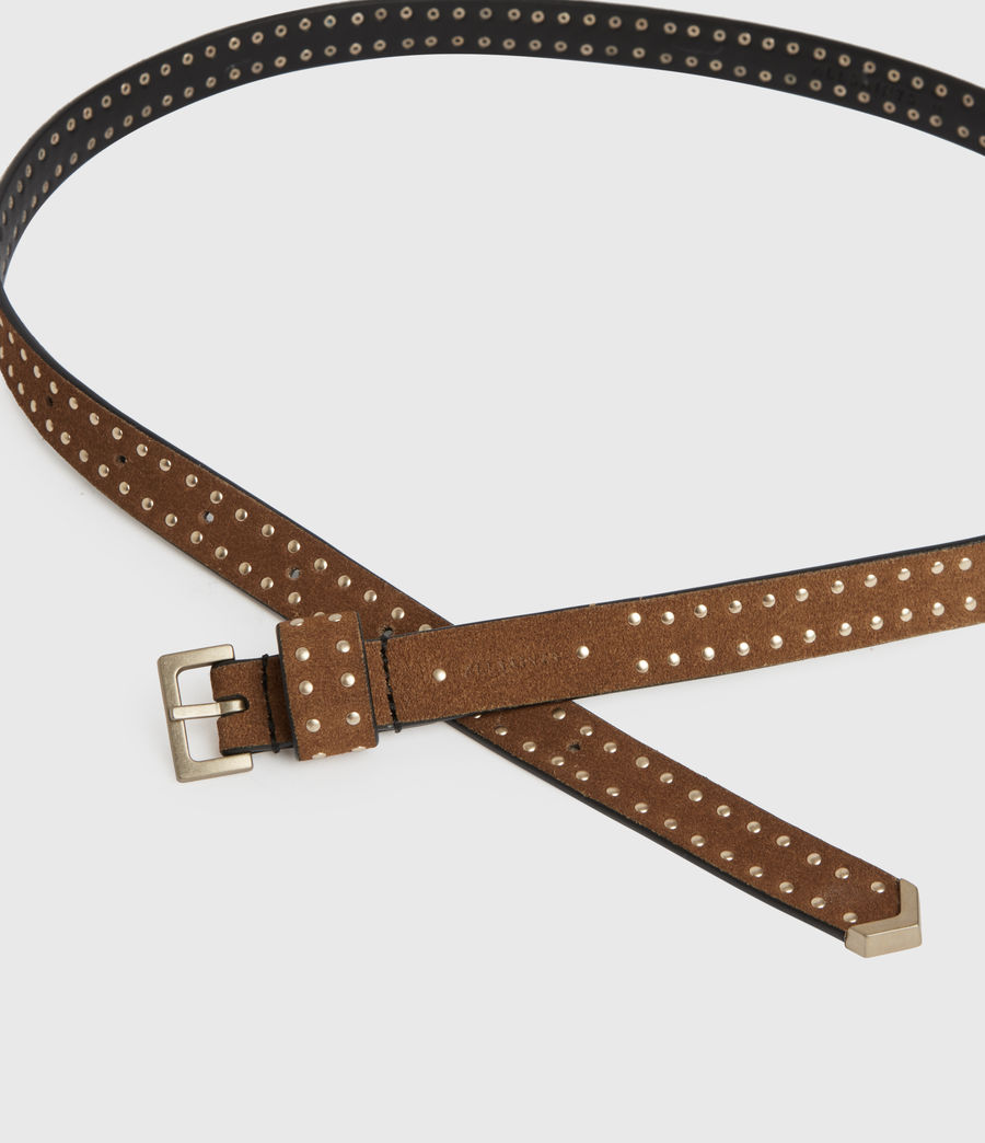 Womens Copa Suede Belt (tan) - Image 3