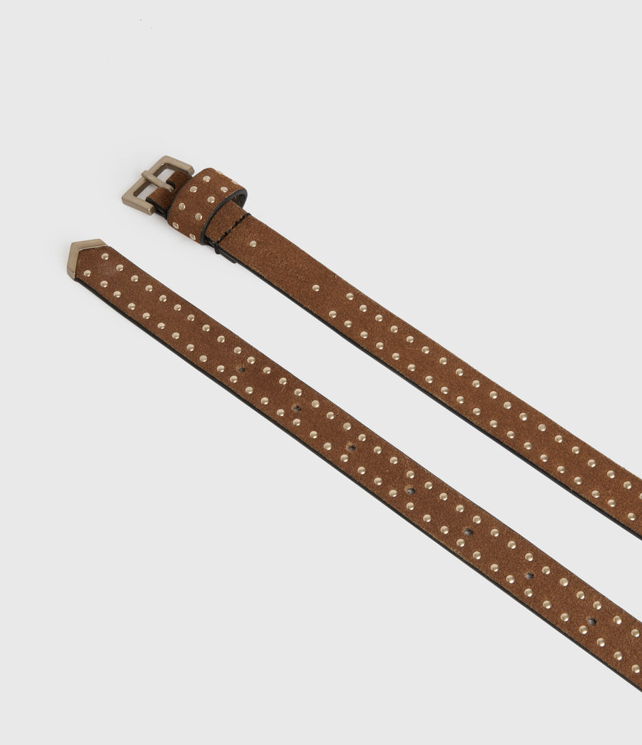 Womens Copa Suede Belt (tan) - Image 4