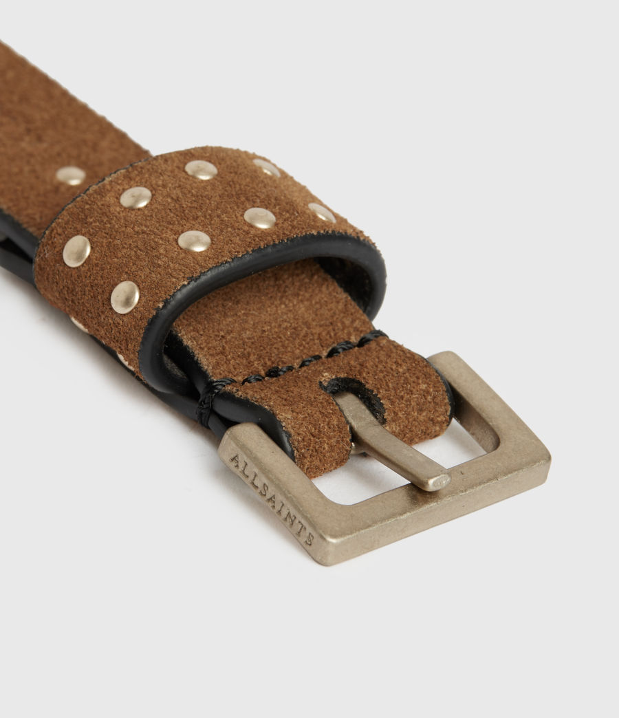 Womens Copa Suede Belt (tan) - Image 5