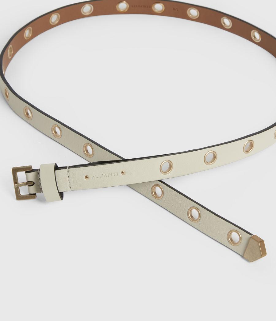 Womens Kristin Leather Belt (off_white) - Image 2