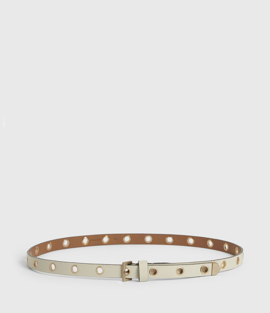 Women's Kristin Leather Belt (off_white) - Image 4