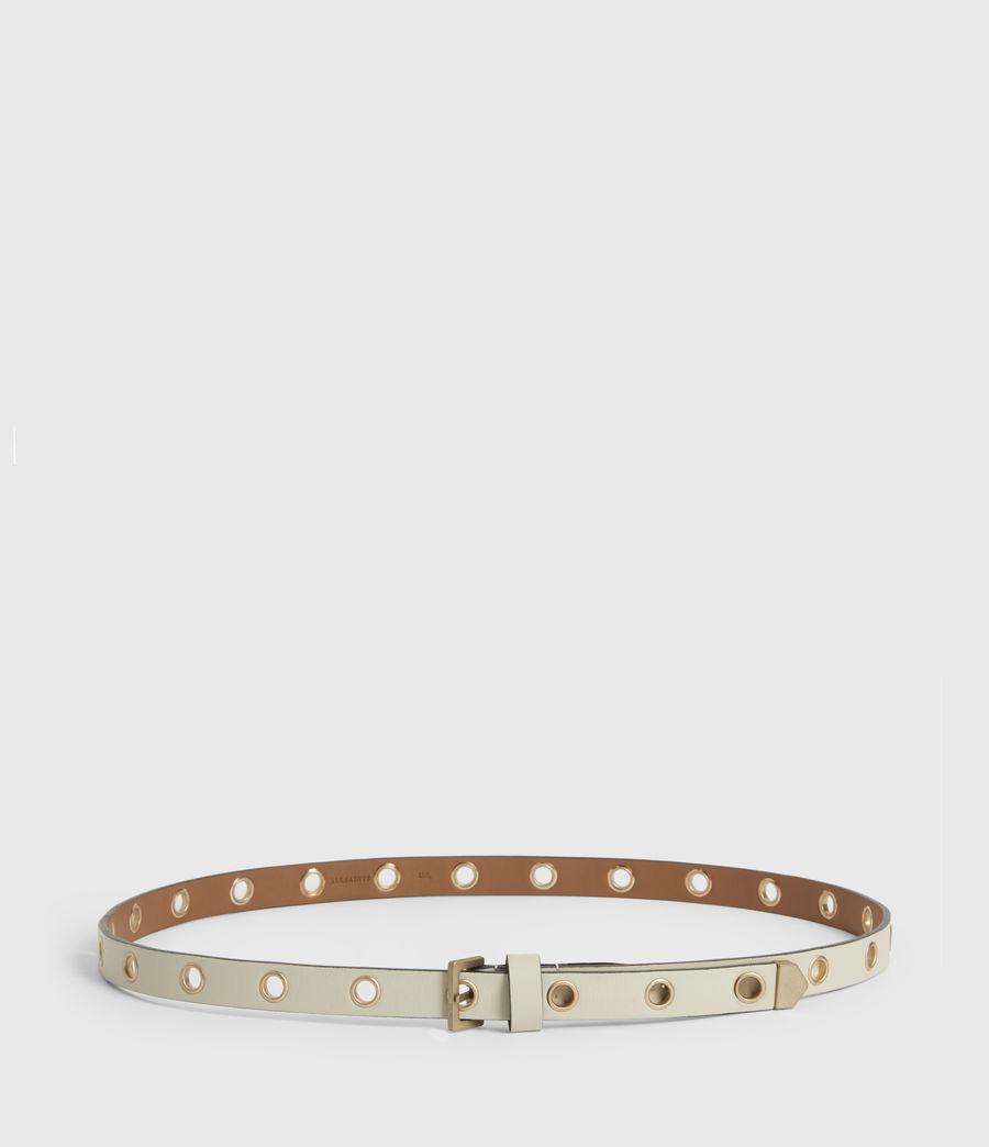 Womens Kristin Leather Belt (off_white) - Image 4