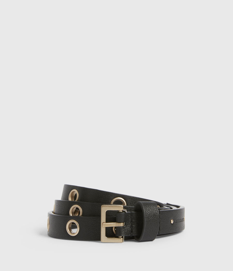 Womens Kristin Leather Belt (black) - Image 1