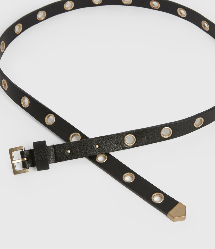 Womens Kristin Leather Belt (black) - Image 2