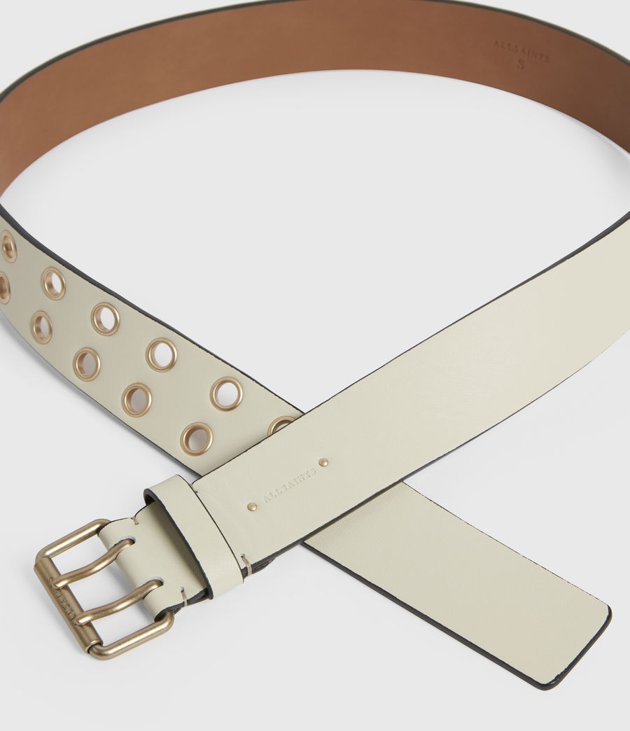 Women's Amelia Leather Belt (off_white) - Image 2