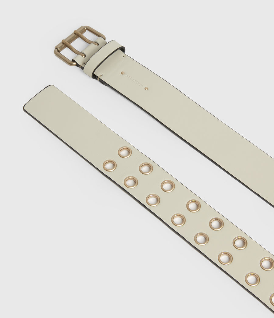 Women's Amelia Leather Belt (off_white) - Image 3