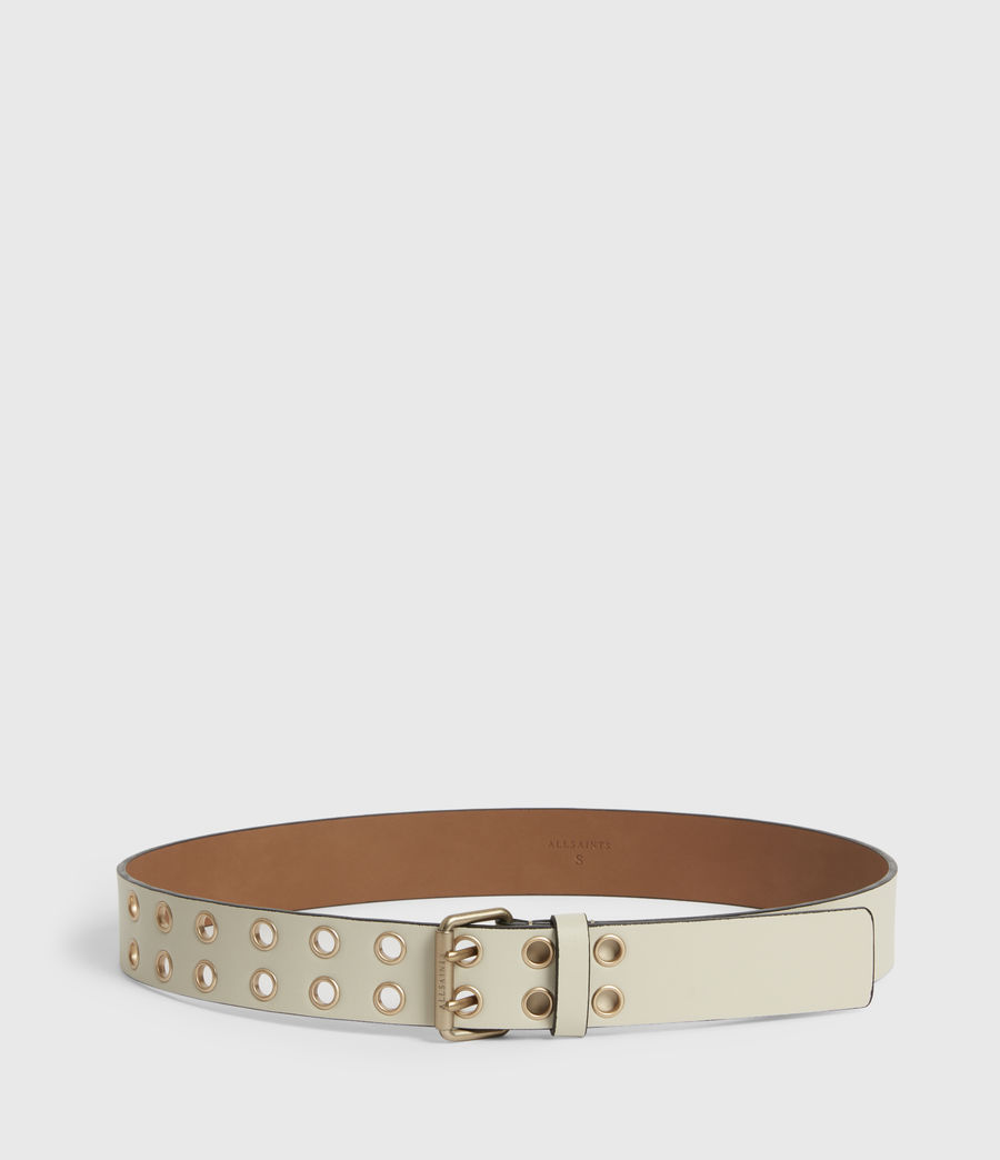 Women's Amelia Leather Belt (off_white) - Image 4