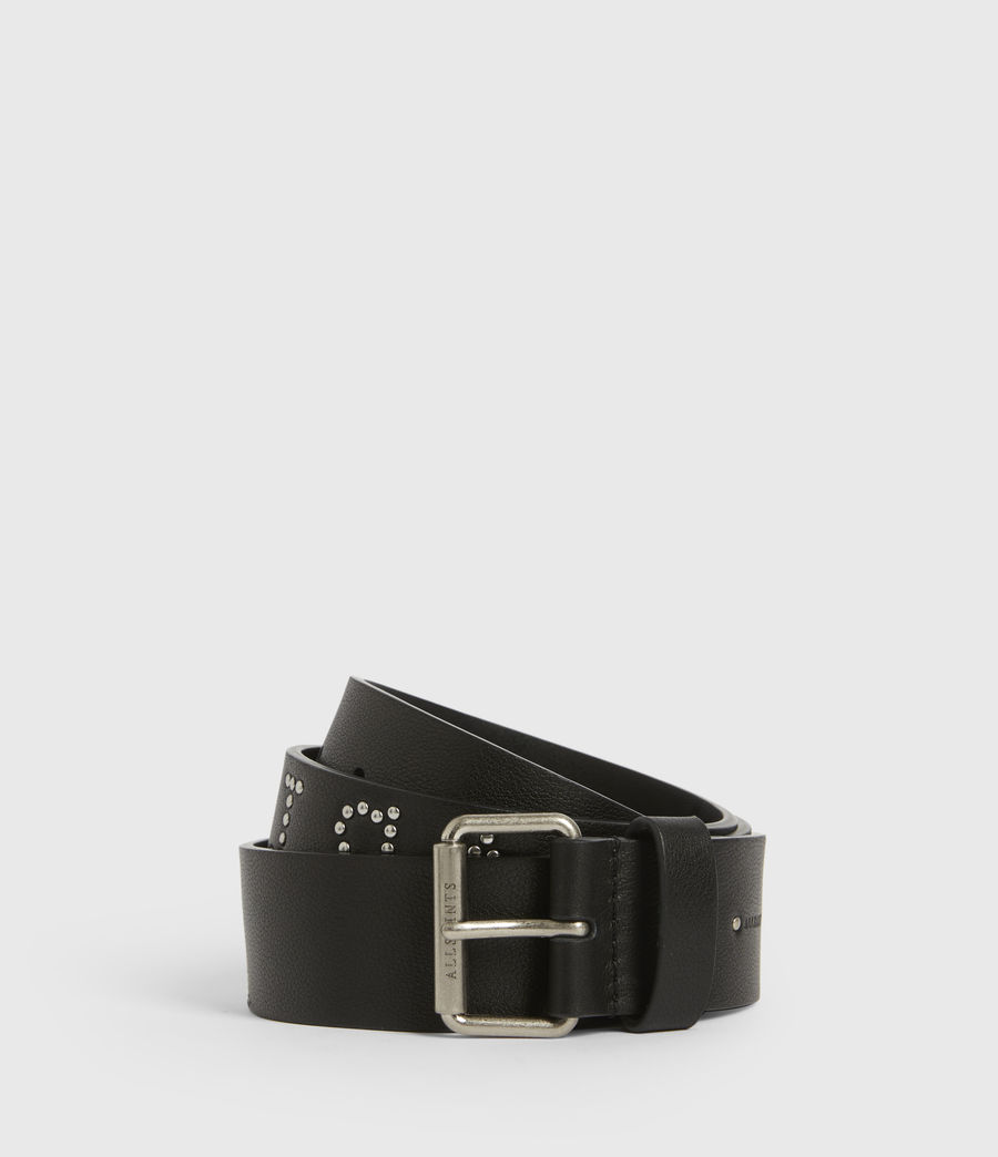 Women's Laia Leather Belt (black) - Image 1