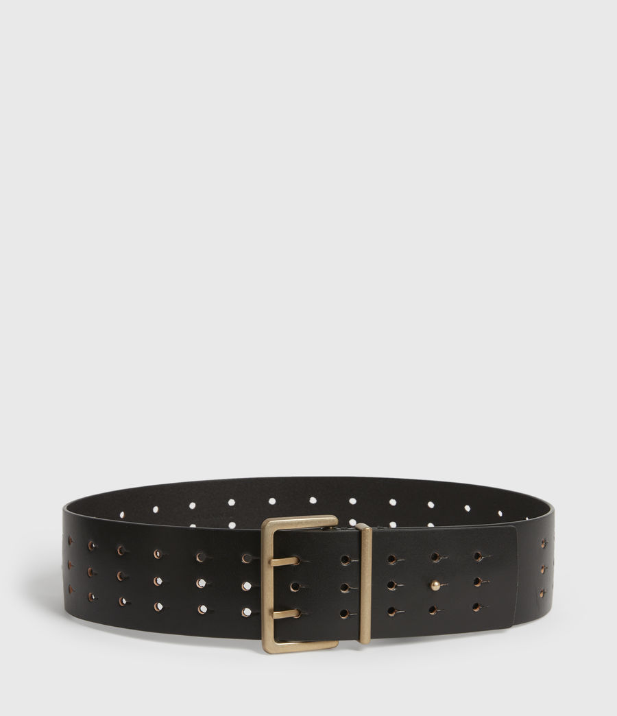 Womens Jane Leather Belt (black) - Image 1