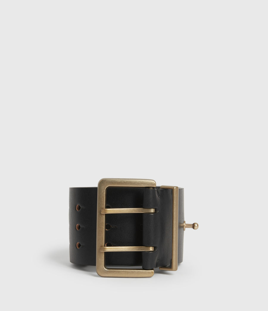 Womens Jane Leather Belt (black) - Image 3