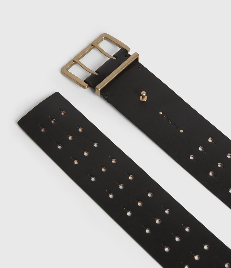 Womens Jane Leather Belt (black) - Image 4
