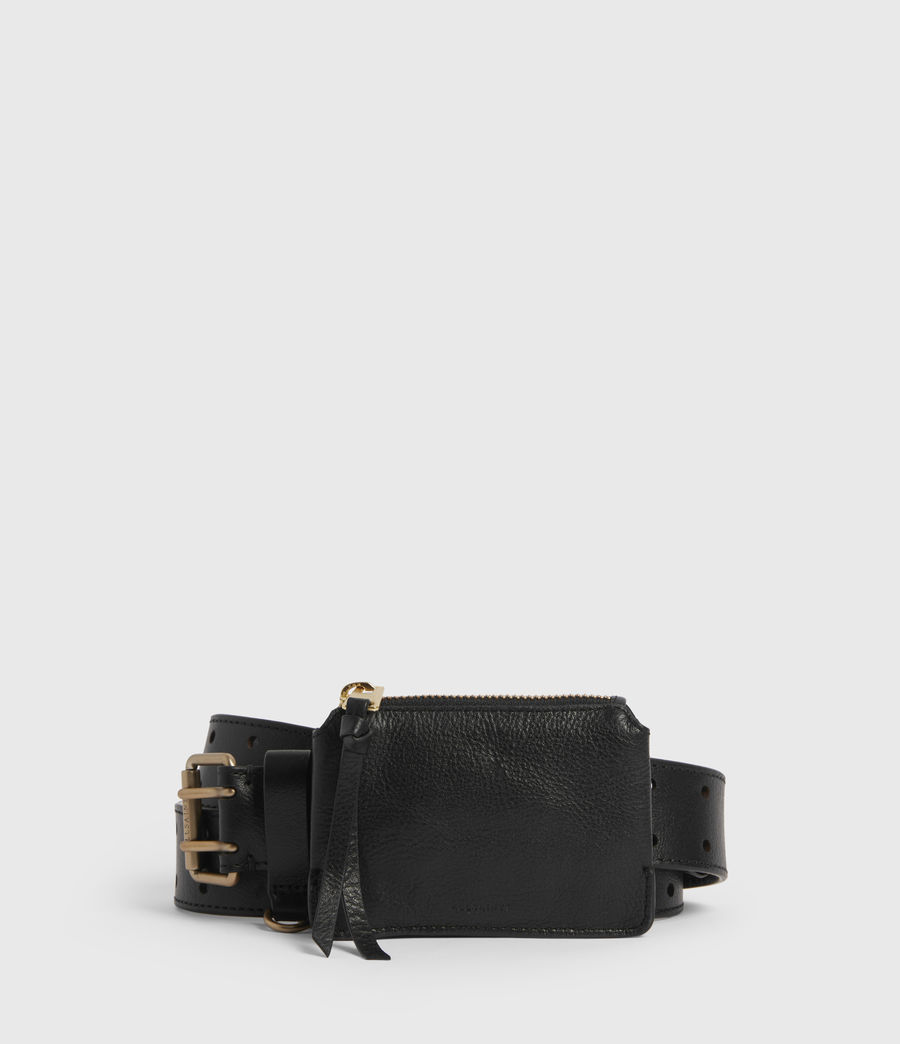Women's Emma Leather Belt (black) - Image 2