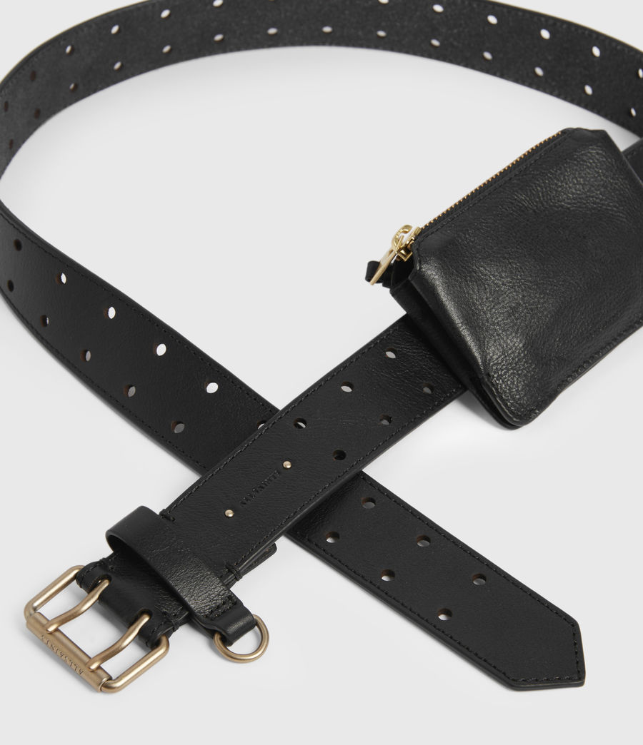 Women's Emma Leather Belt (black) - Image 3