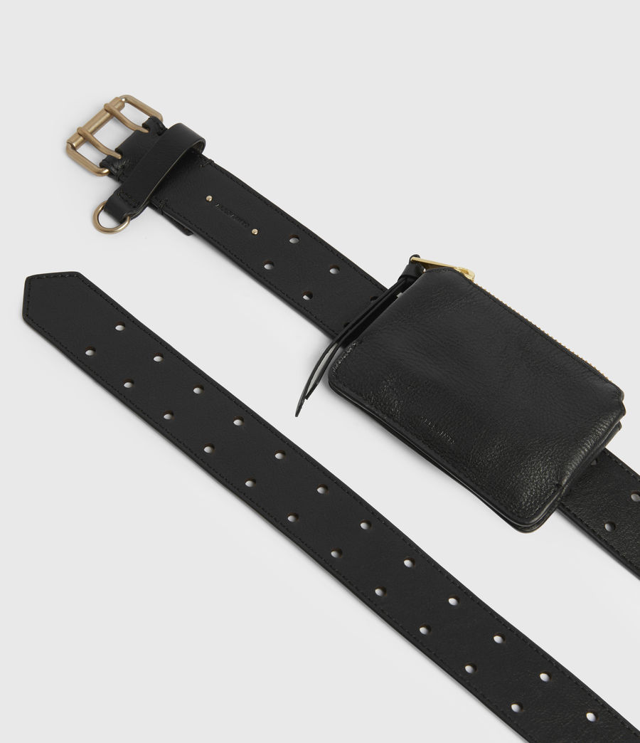 Women's Emma Leather Belt (black) - Image 4