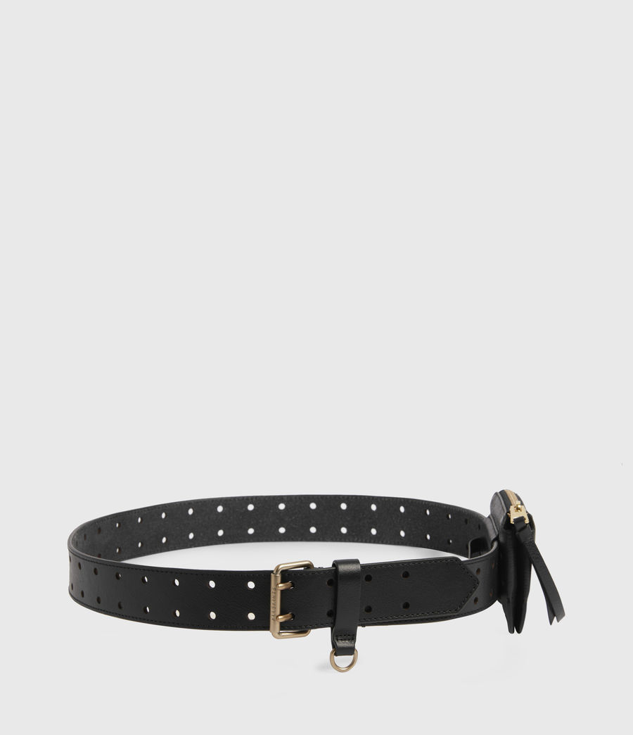 Women's Emma Leather Belt (black) - Image 5