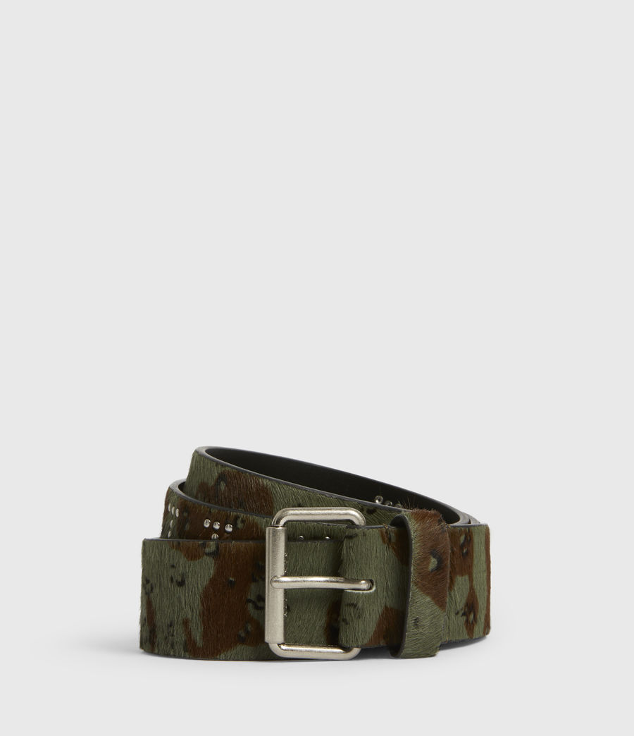 Women's Laia Leather Belt (camo) - Image 1