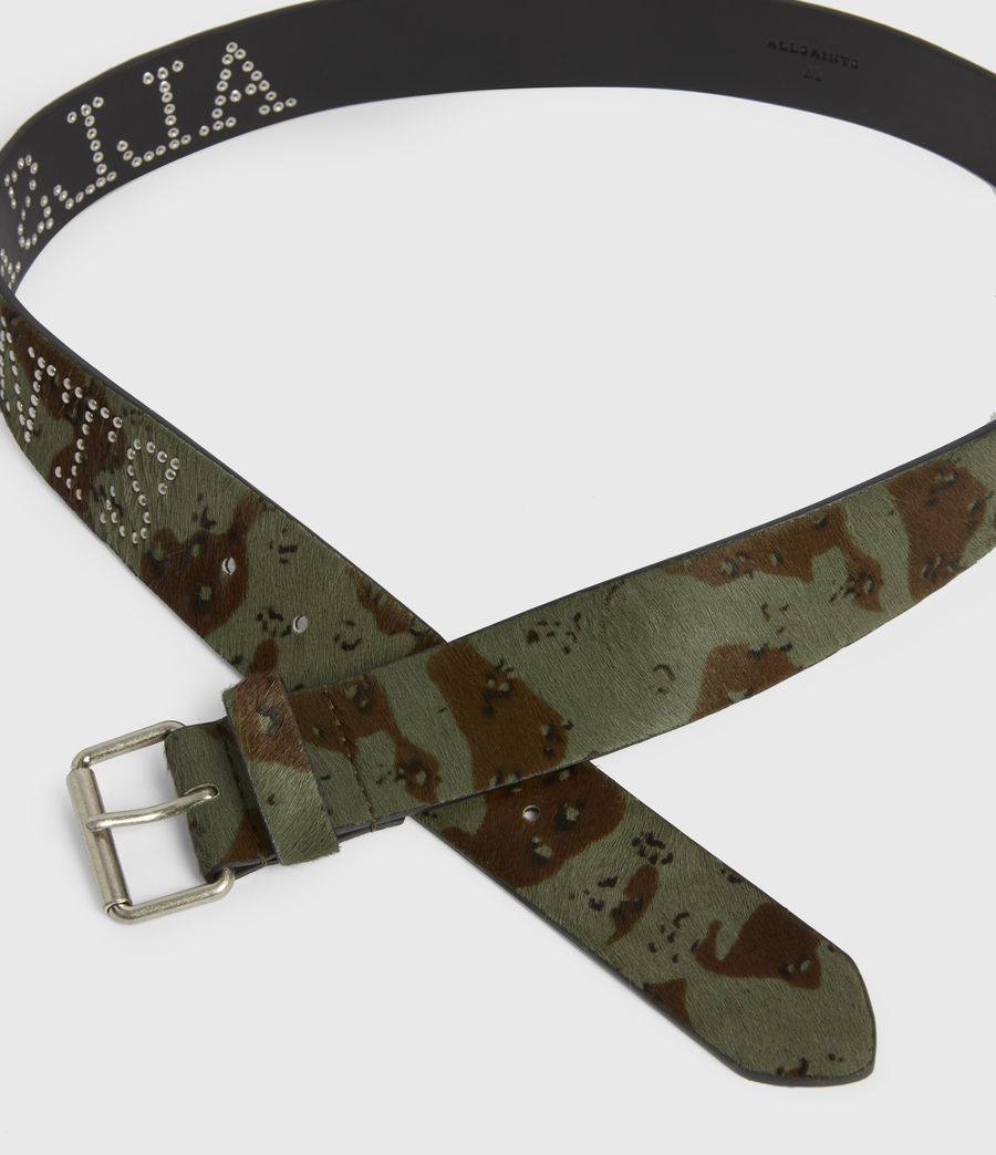 Women's Laia Leather Belt (camo) - Image 2