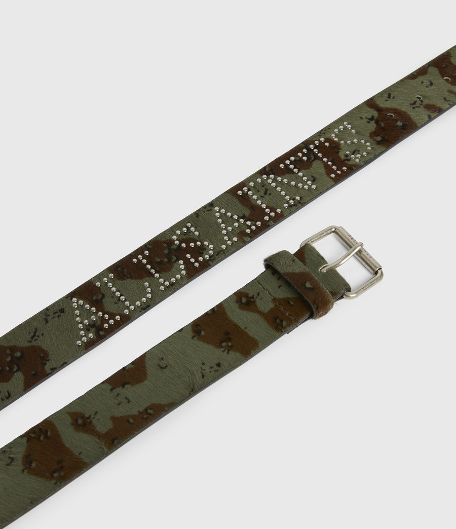 Women's Laia Leather Belt (camo) - Image 3