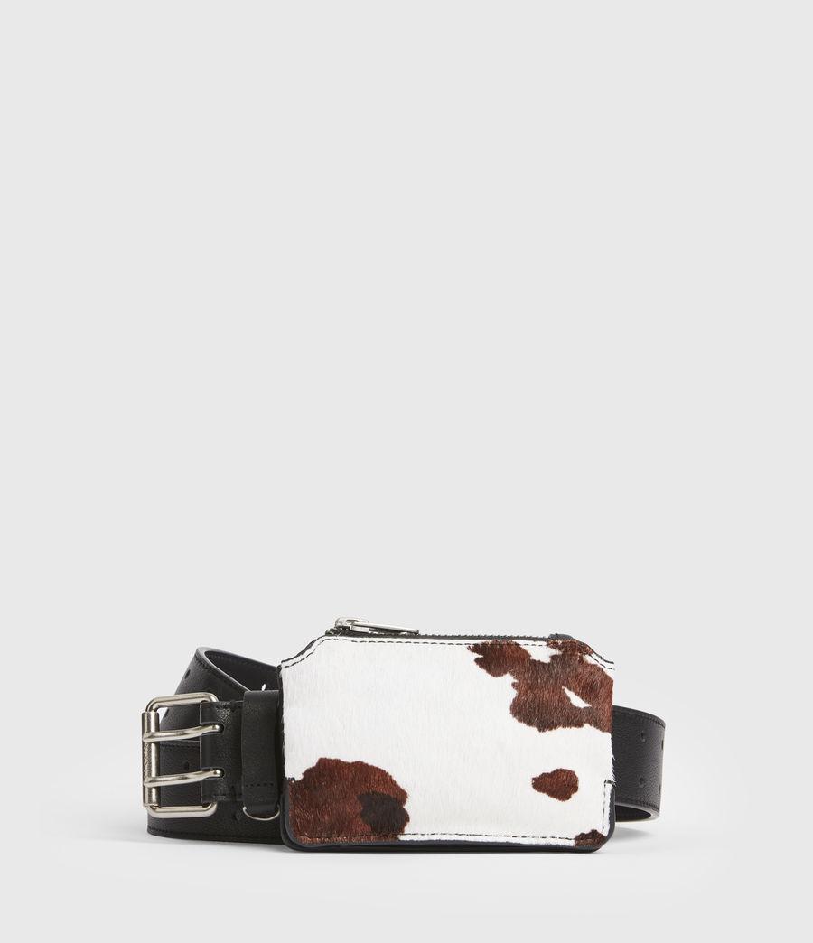 Mujer Emma Leather Belt (white_black) - Image 1