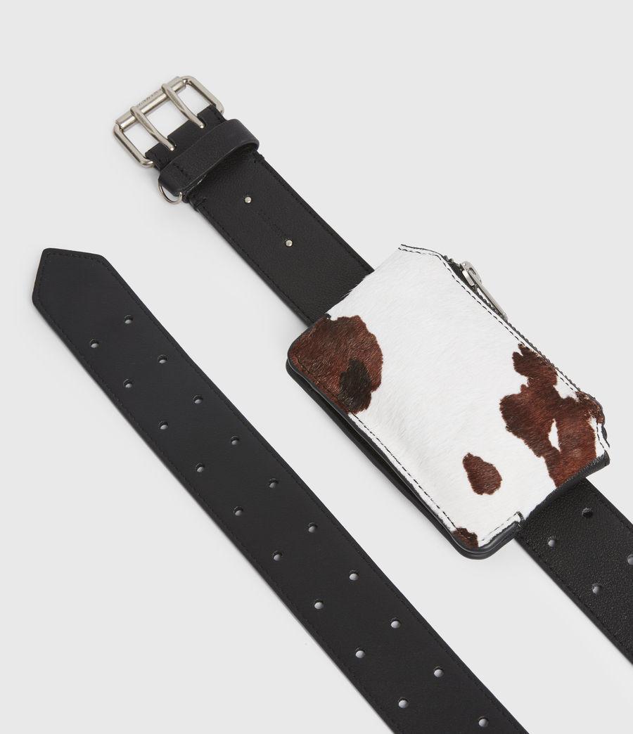 Mujer Emma Leather Belt (white_black) - Image 2