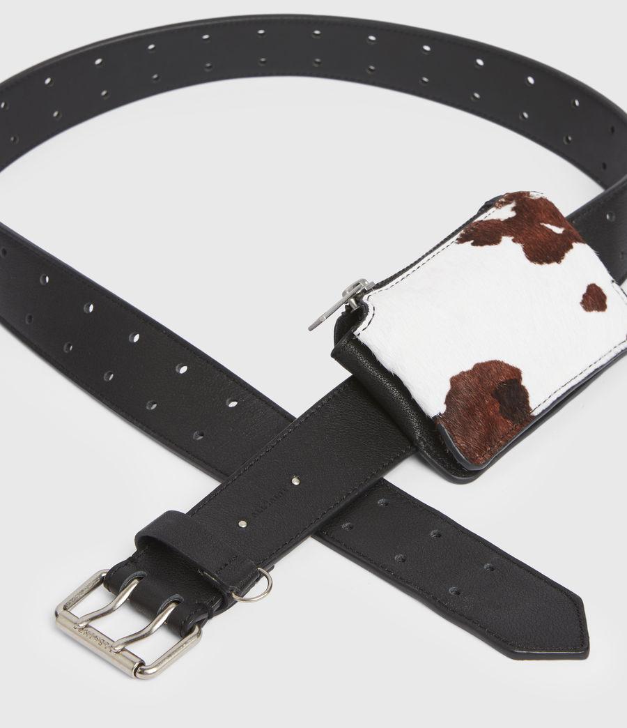 Mujer Emma Leather Belt (white_black) - Image 4
