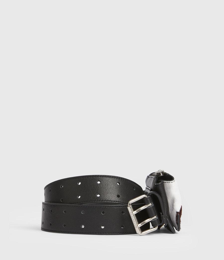 Mujer Emma Leather Belt (white_black) - Image 5
