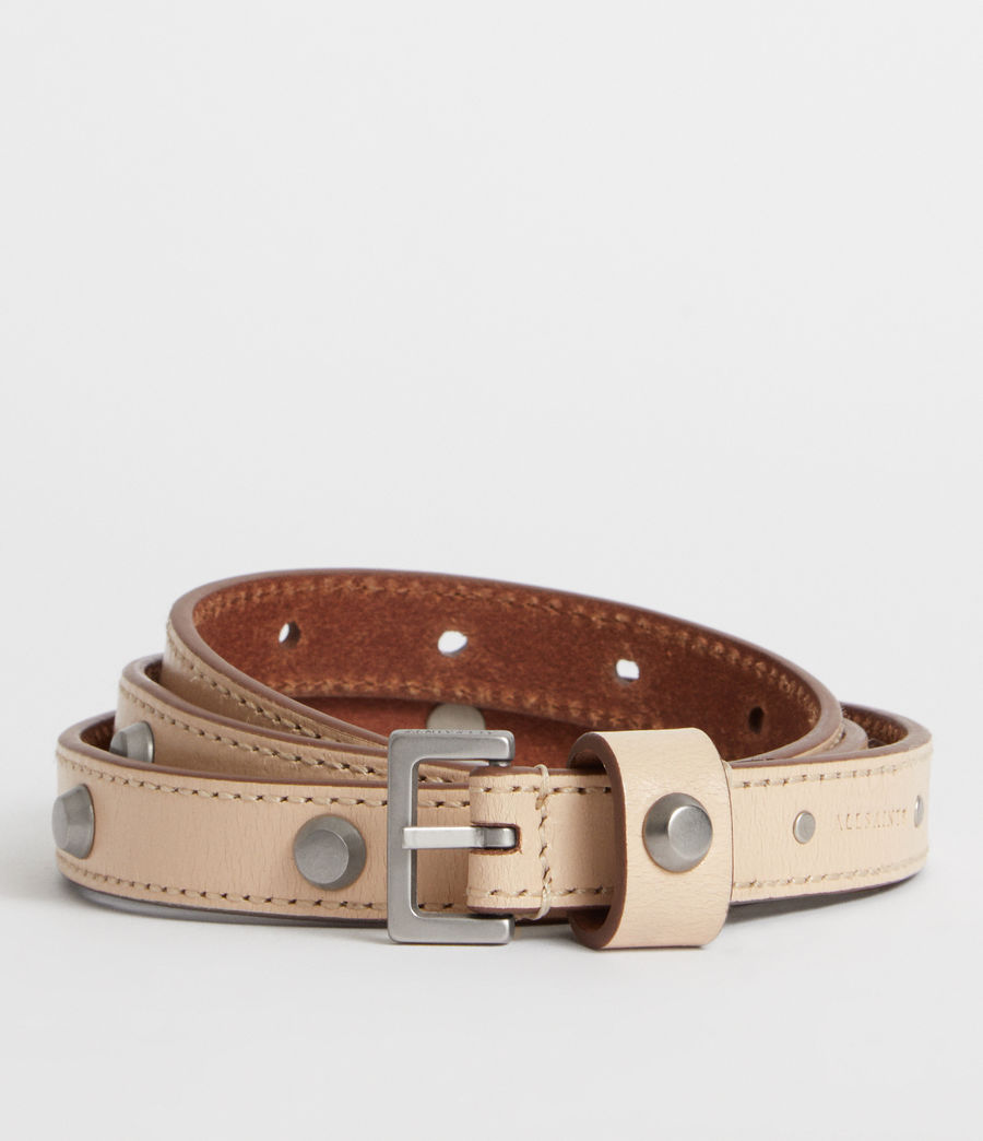Women's Aimee Leather Belt (nude_stone) - Image 1