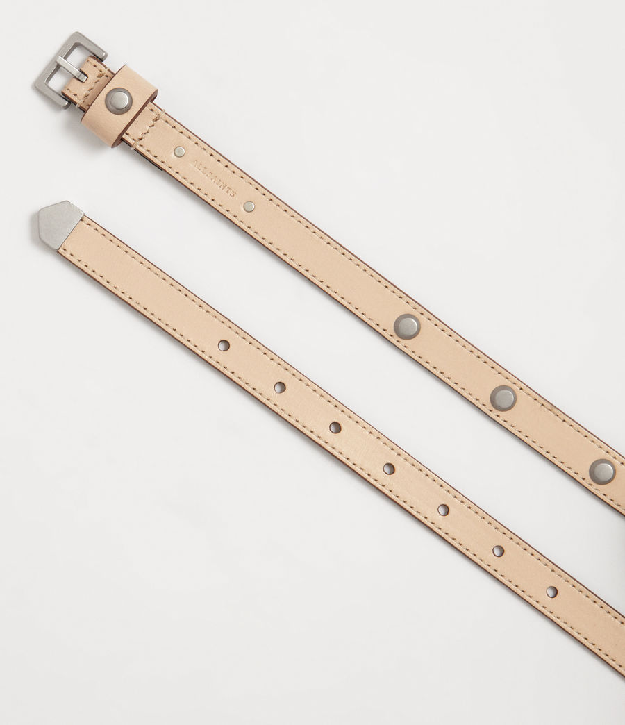 Women's Aimee Leather Belt (nude_stone) - Image 3