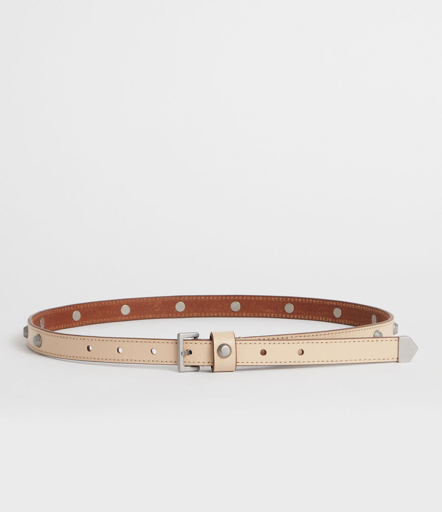 Women's Aimee Leather Belt (nude_stone) - Image 4