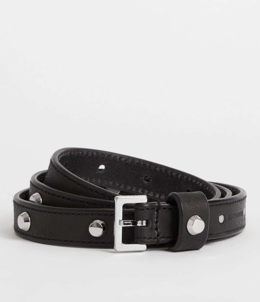 Women's Aimee Leather Belt (black) - Image 1