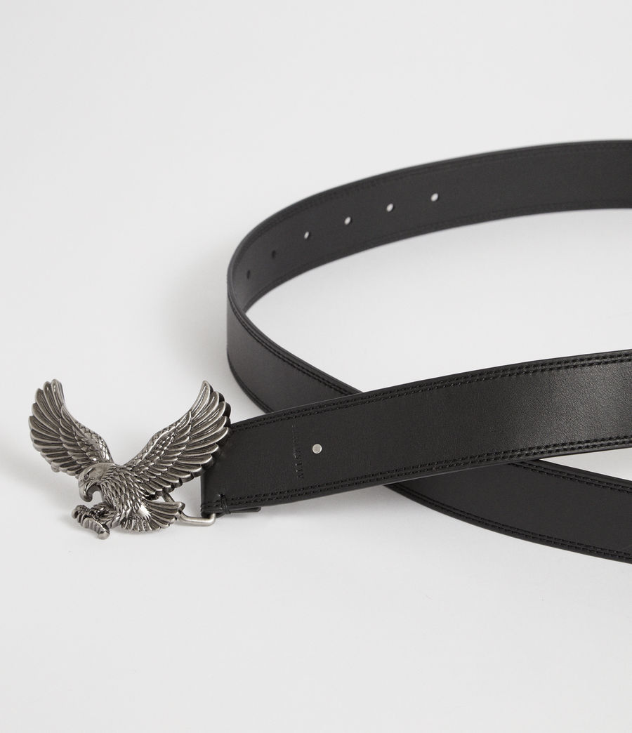 Women's Aquilo Leather Belt (black) - Image 2