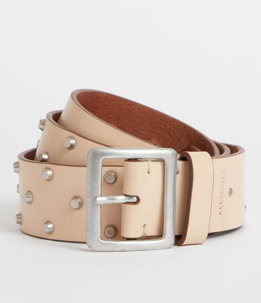 Women's Carine Leather Belt (nude_stone) - Image 1