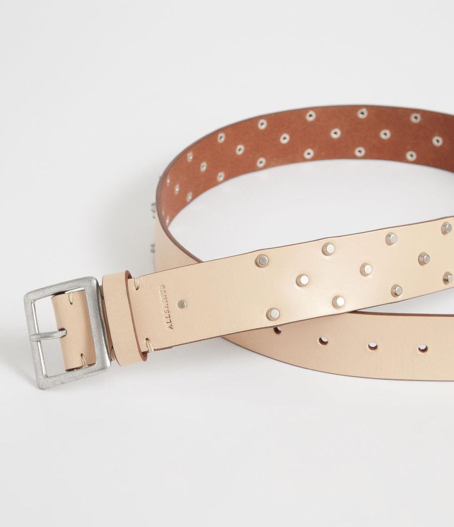 Women's Carine Leather Belt (nude_stone) - Image 2