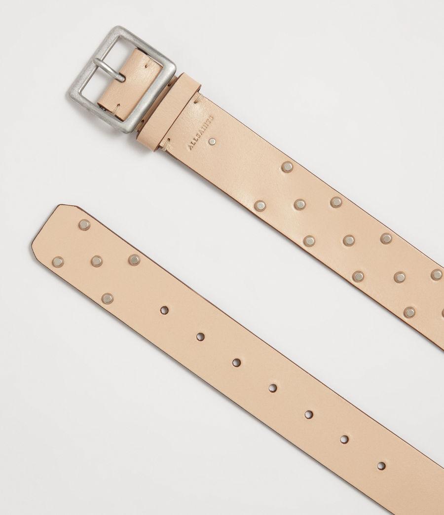 Women's Carine Leather Belt (nude_stone) - Image 3