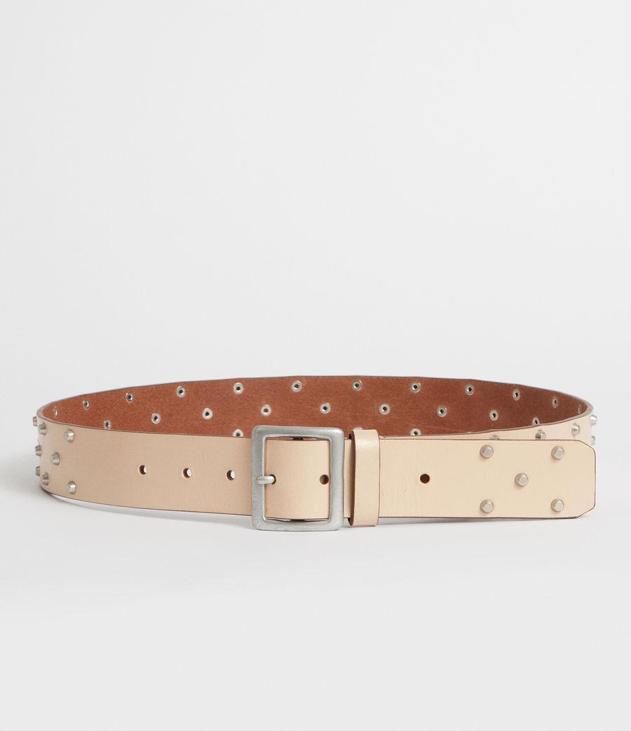 Women's Carine Leather Belt (nude_stone) - Image 4