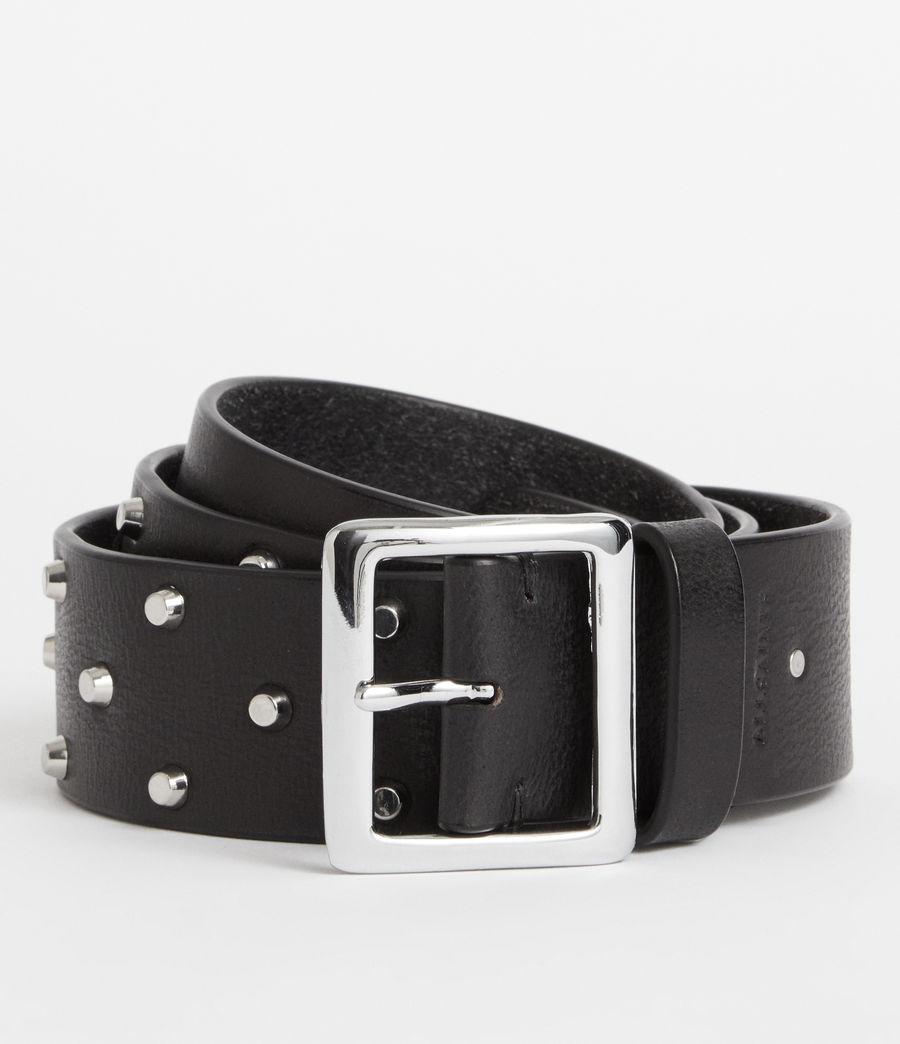 Women's Carine Leather Belt (black) - Image 1