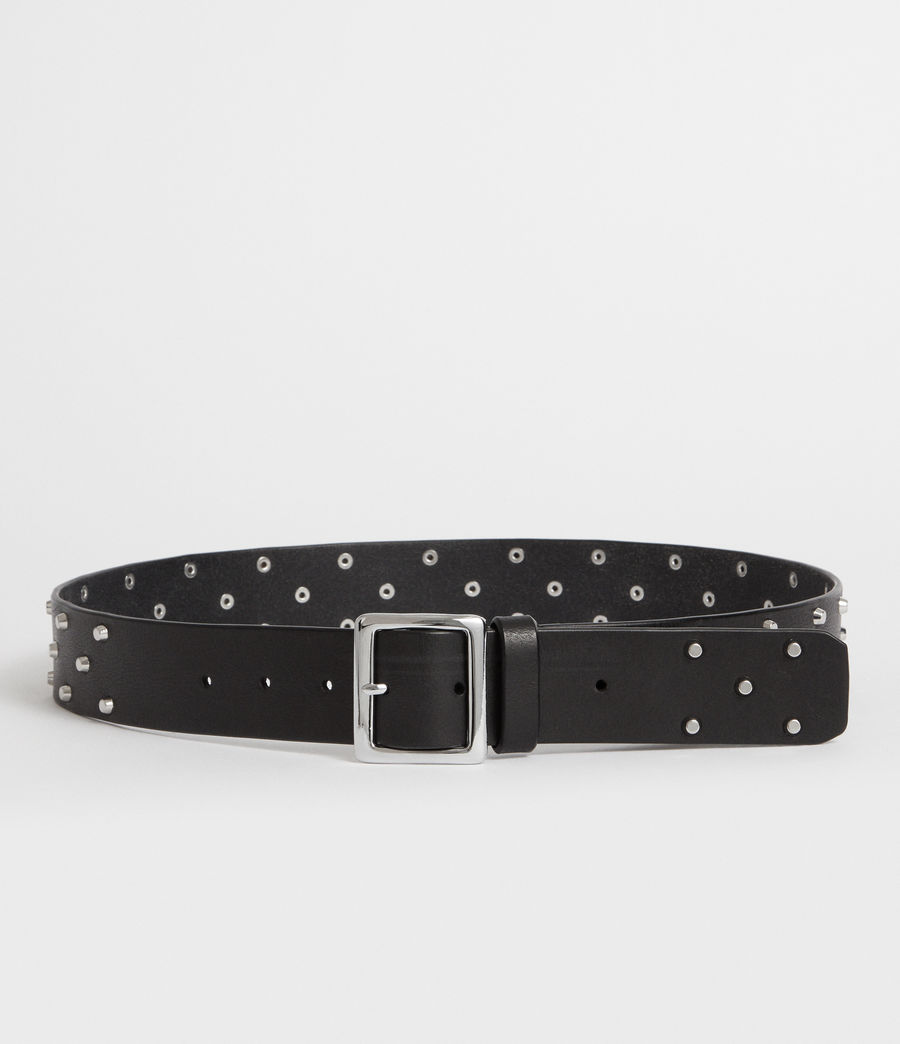 Women's Carine Leather Belt (black) - Image 4