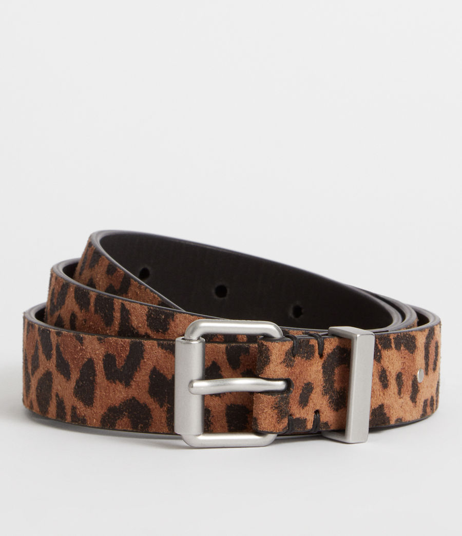 Women's Karin Leather Belt (leopard) - Image 1