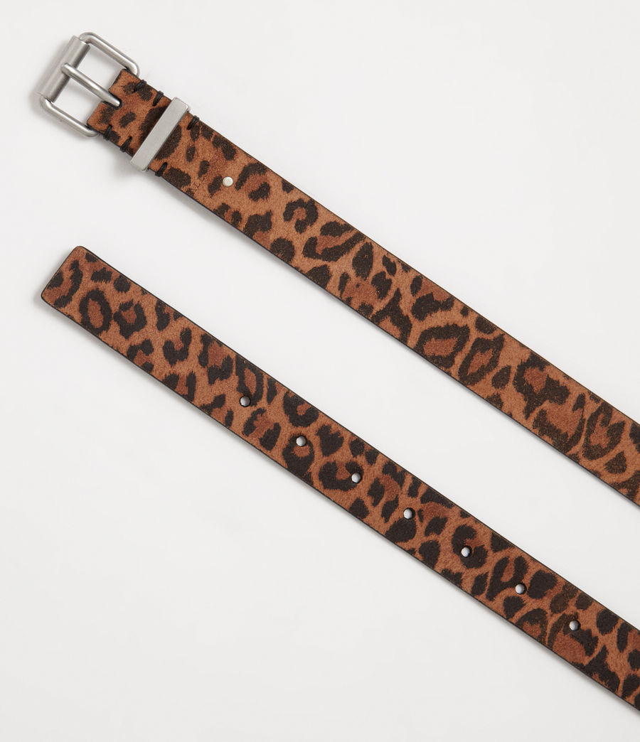 Women's Karin Leather Belt (leopard) - Image 3