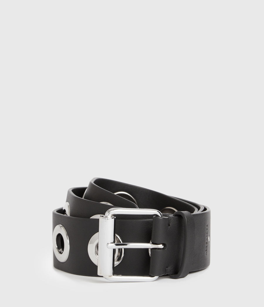Womens Dani Leather Belt (black) - Image 2