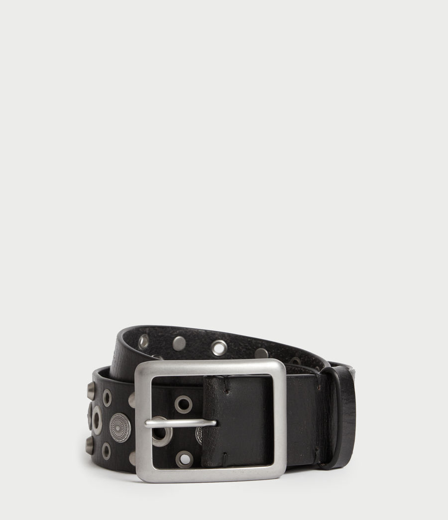 Womens Stella Leather Belt (black) - Image 1