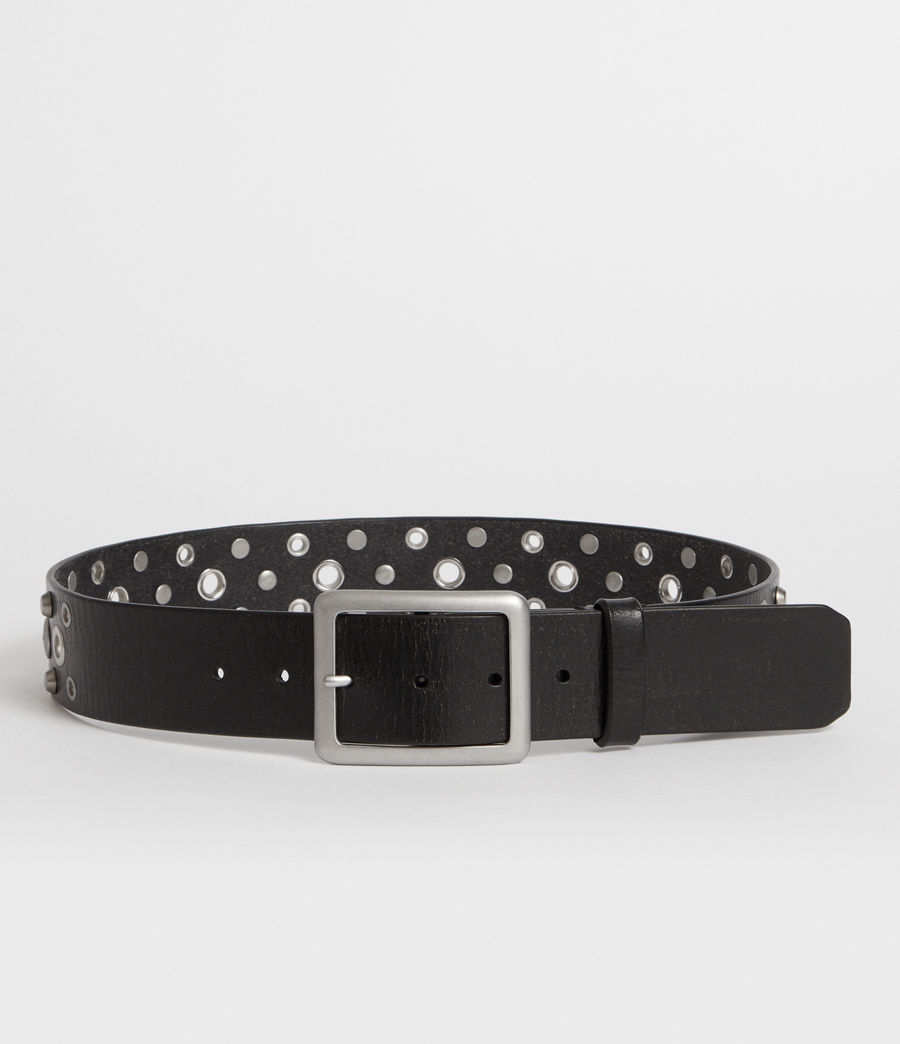 Womens Stella Leather Belt (black) - Image 4