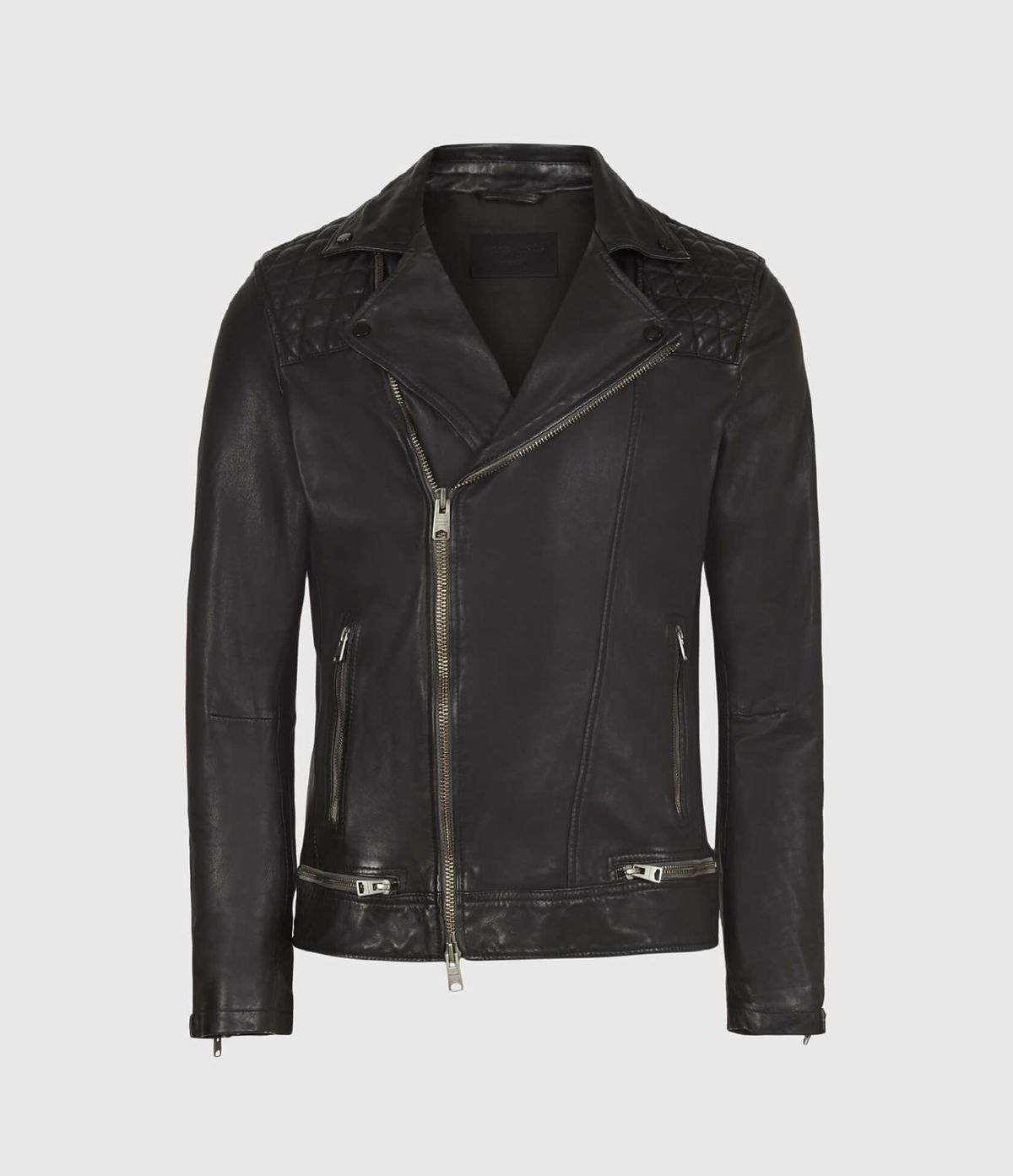 Men's Conroy Leather Jacket - Hover for Measurements