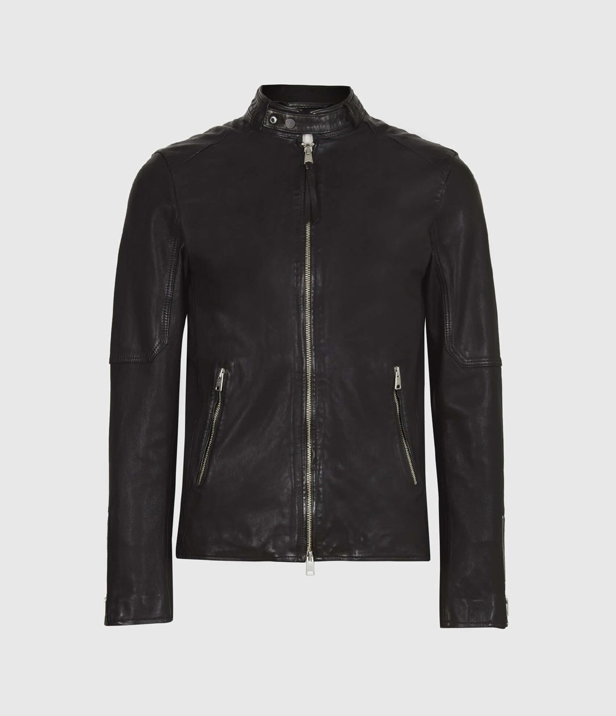 Men's Cora Leather Jacket - Hover for Measurements